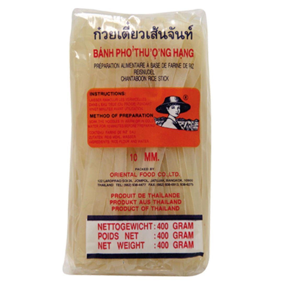 10mm breite Reisnudeln 400 g Farmer Brand Ricedicke Reis Nudeln  Asia Nudeln