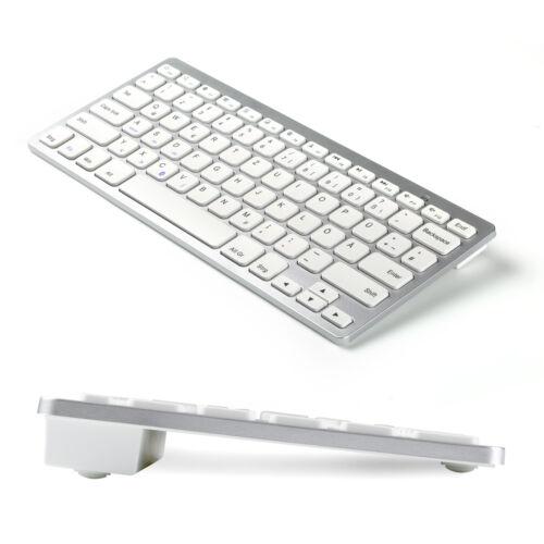 CSL Bluetooth Slim Tastatur Wireless Funk QWERTZ Handy Tablet, silber PDA