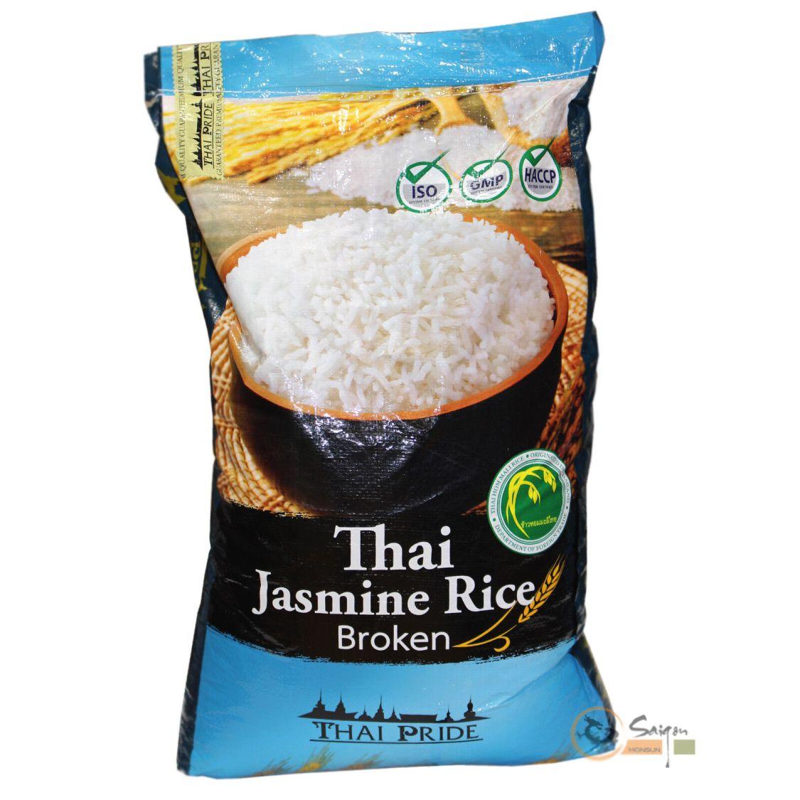 (1,55 EUR/kg) Thai Pride Jasmin Duft Bruchreis Jasminreis aus Thailand 20kg