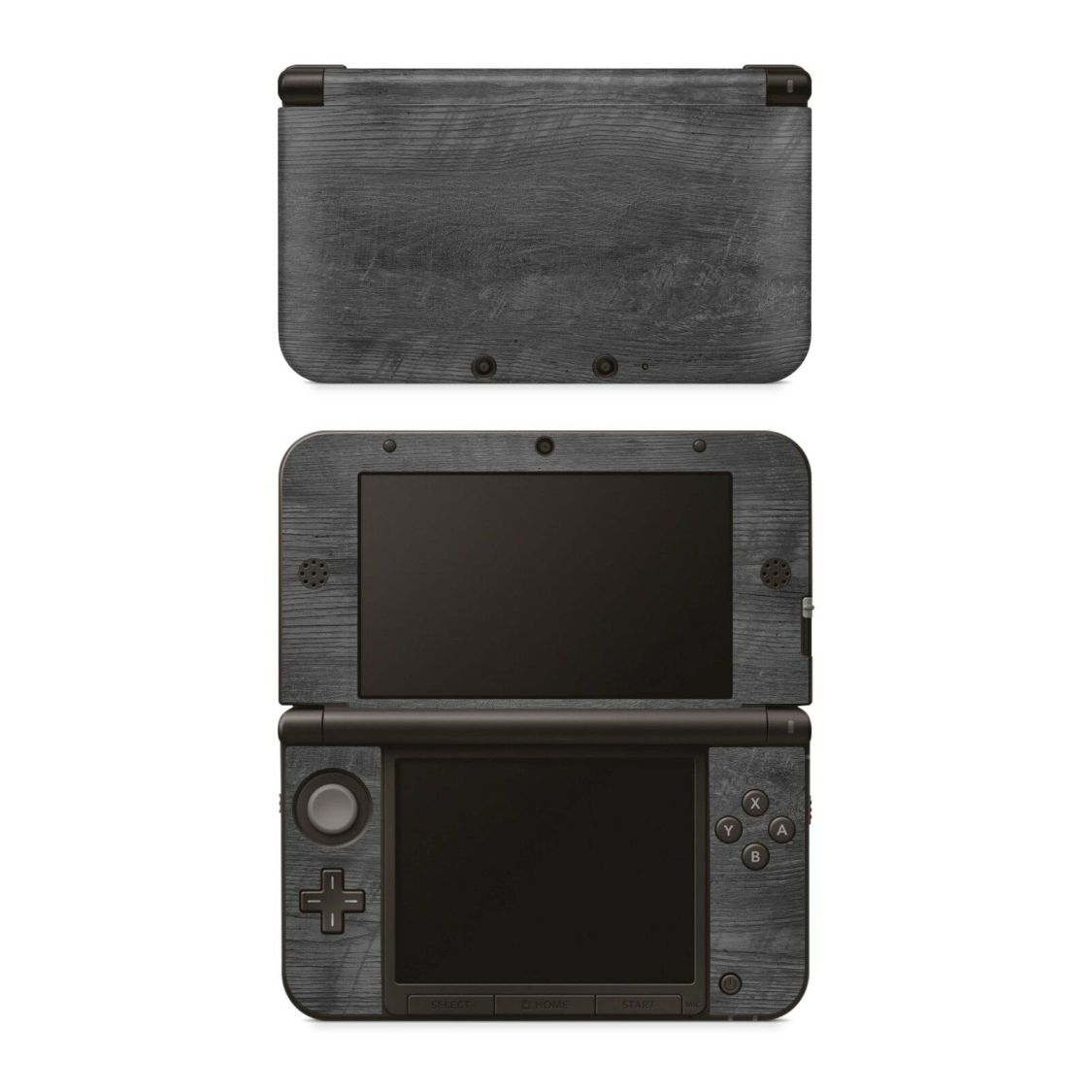 Nintendo NEW 3DS XL Aufkleber Skin Klebefolie Schutzfolie Sticker Grey Woodgrain