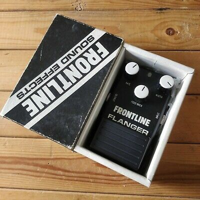 Frontline 3 Knob Flanger White80s Japan Guitar Effects Pedal Strings and Things