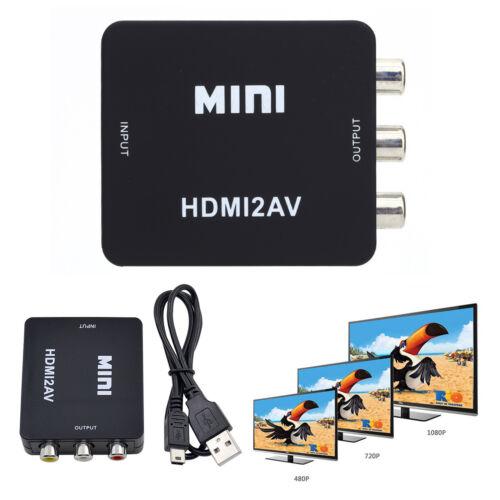 Mini HDMI2AV HDMI auf Cinch Video Audio AV Adapter-Konverter CVBS 1080p für HDTV