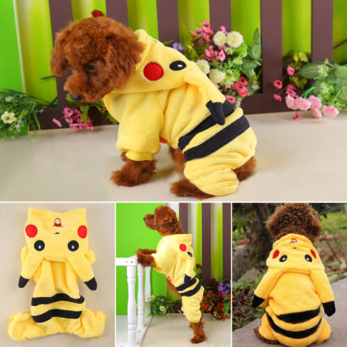 Small Pet Hoodie Sweater Coat Jacket Puppy Dog Cat Warm Costume Apparel Clothes 2