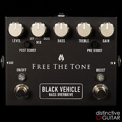 BRAND NEW FREE THE TONE BV-1V BLACK VEHICLE BASS OVERDRIVE EFFECT BOUTIQUE PEDAL