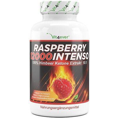 Raspberry 12000 Intenso - 120 Kapseln Himbeer Ketone Extrakt - Fatburner Stark