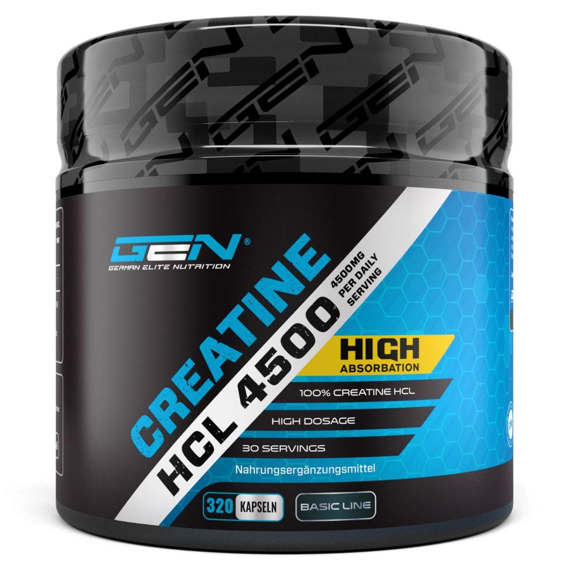 320 Kapseln Creatin HCL 4500 MG  No Creatine Monohydrat Kreatin Muskelaufbau