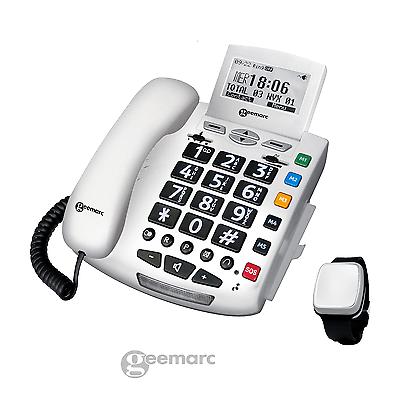 Sprechendes Notruf-Telefon & SOS FallSensor Armband Serenities Pflegeruf-Set