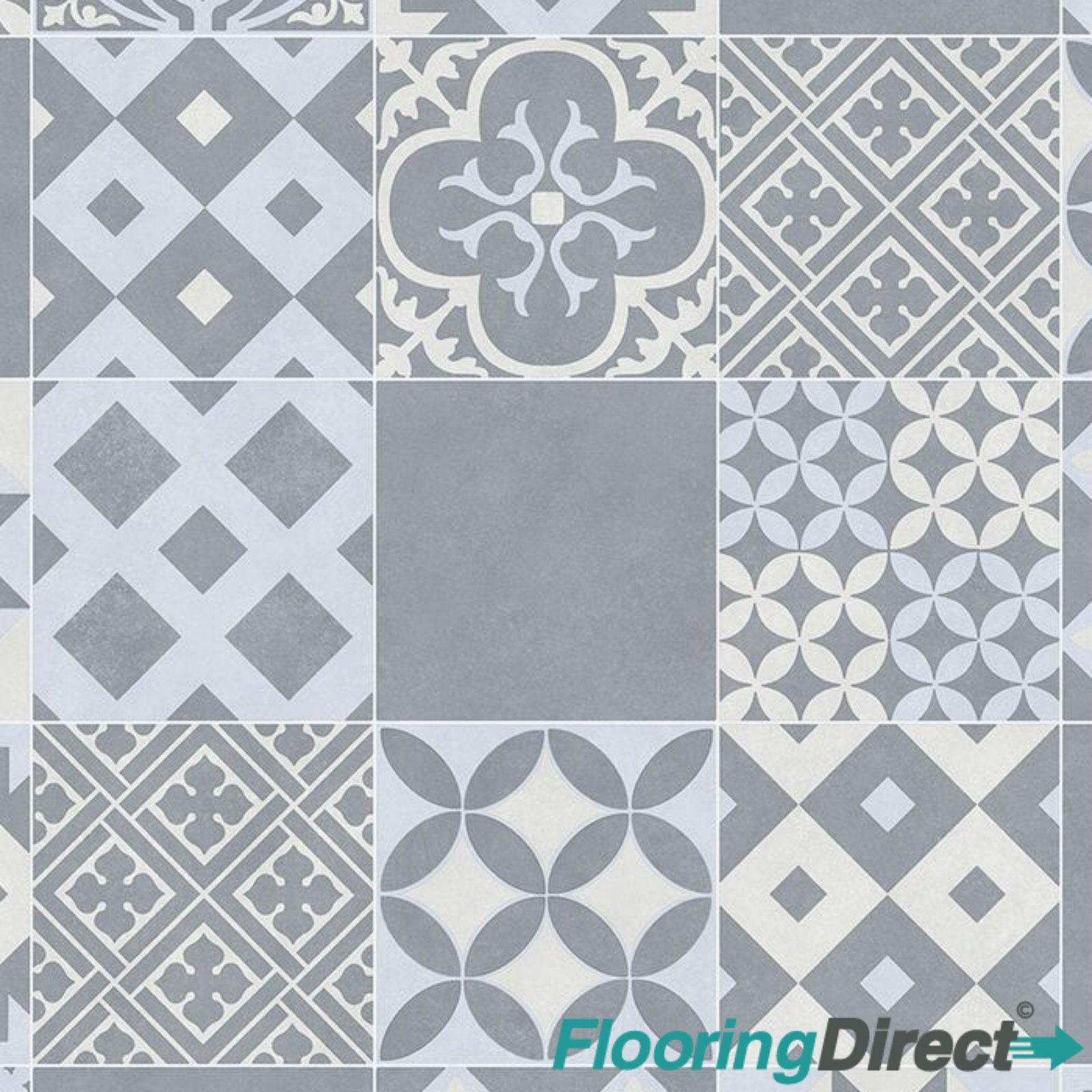 moroccan light blue grey tile design