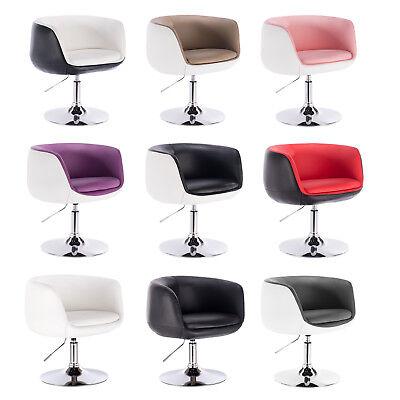 1 x Barsessel Lounge Sessel Clubsessel Kunstleder Chrom höhenverstellbar #534