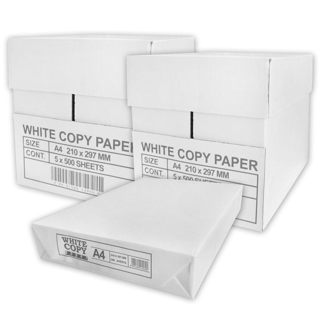 5000 Blatt Papier A4 weiß 80qm Kopierpapier Druckerpapier Laserpapier Faxpapier