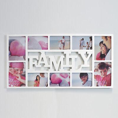 Multi Bilderrahmen Collage Galerie Fotorahmen Family weiß für 10 x 15 cm Fotos