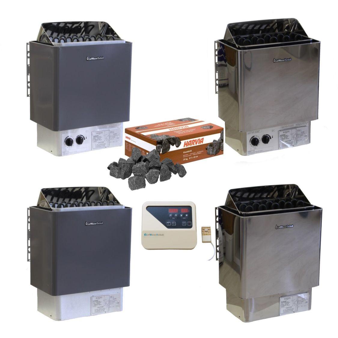 Saunaofen 4,5 / 6,0 / 9,0 KW 400V 3N mit Innensteuerung, oder Außensteuerung