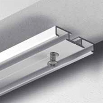 GARDINEUM Vorhangschiene 2-läufig Aluminium alu-silber vorgebohrt Flächenvorhang