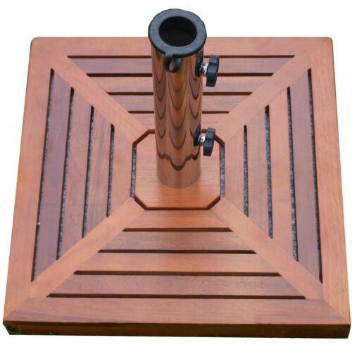 Sonnenschirmständer + Holzverkleidung 40kg Granit eckig Schirmständer 50x 50cm