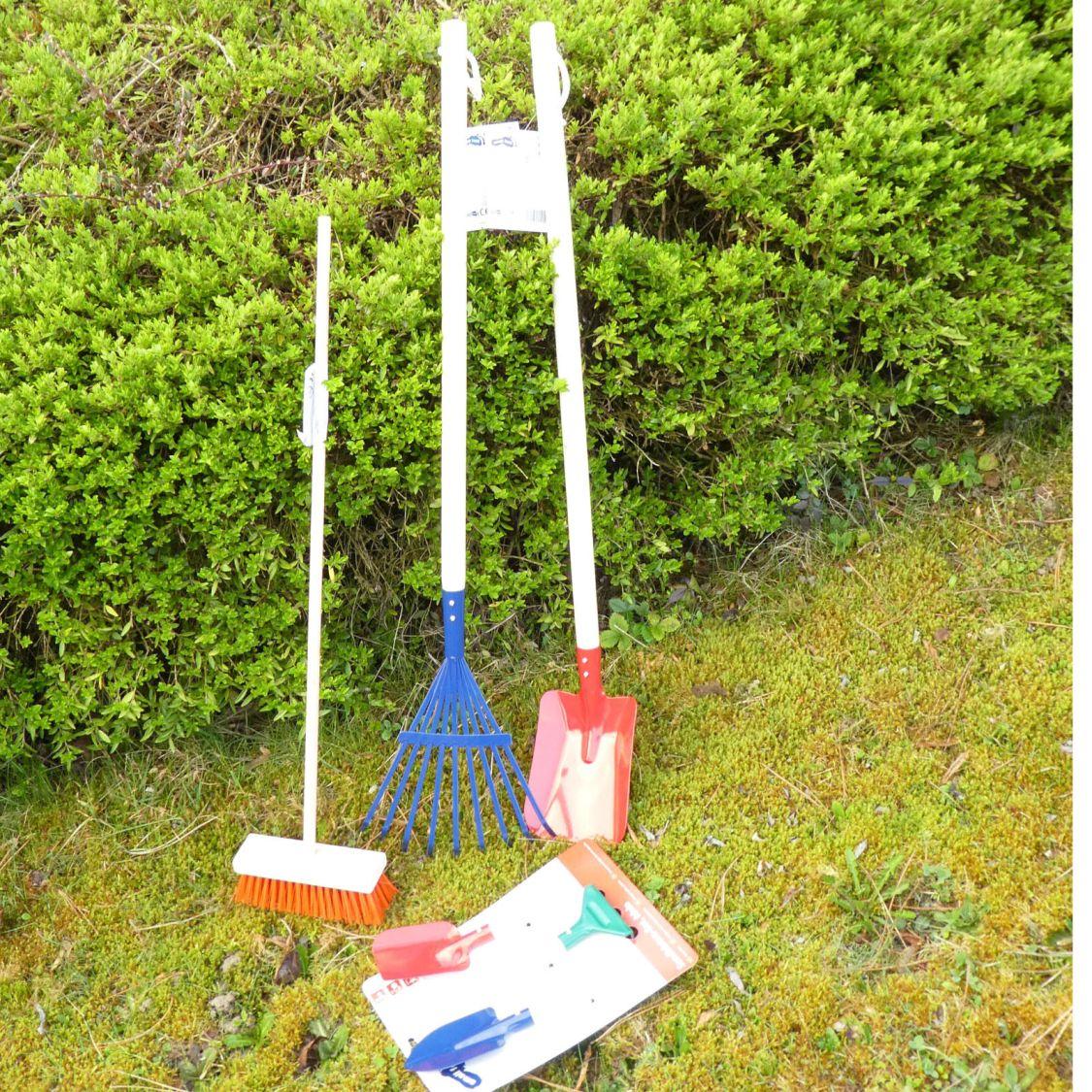 Gartengeräte für Kinder Gartenset Schaufel Rechen Harke Besen #2761 ◕‿◕
