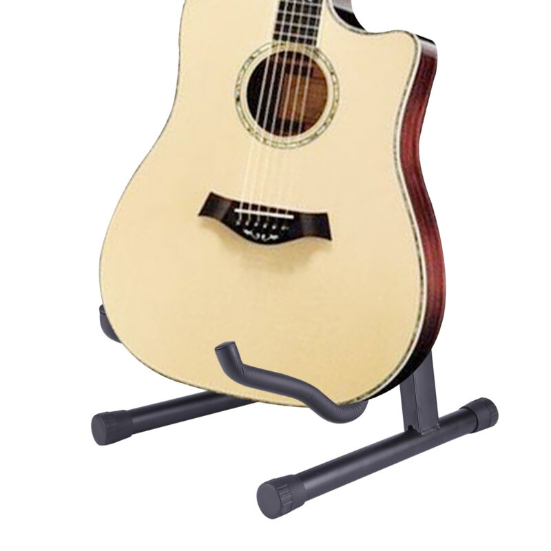 Gitarrenständer Universal Akustik E-Gitarre Stativ Bass Halter Stand Faltbar NEU