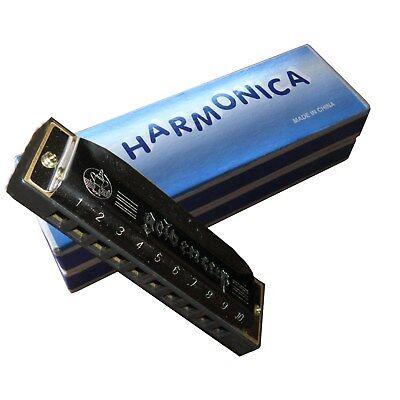 BLUES - MUNDHARMONIKA -HARMONIKA - C-DUR - MSA - GESCHRAUBT - MIT BOX - MH2