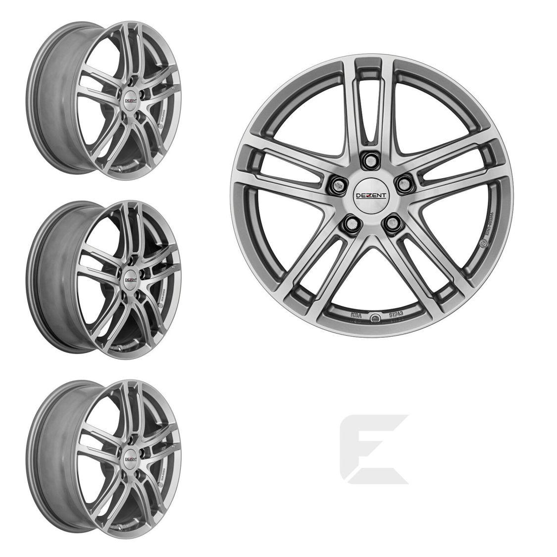 4x 16 Zoll Alufelgen für Mercedes Benz A-Klasse / Dezent TZ (B-83001173)