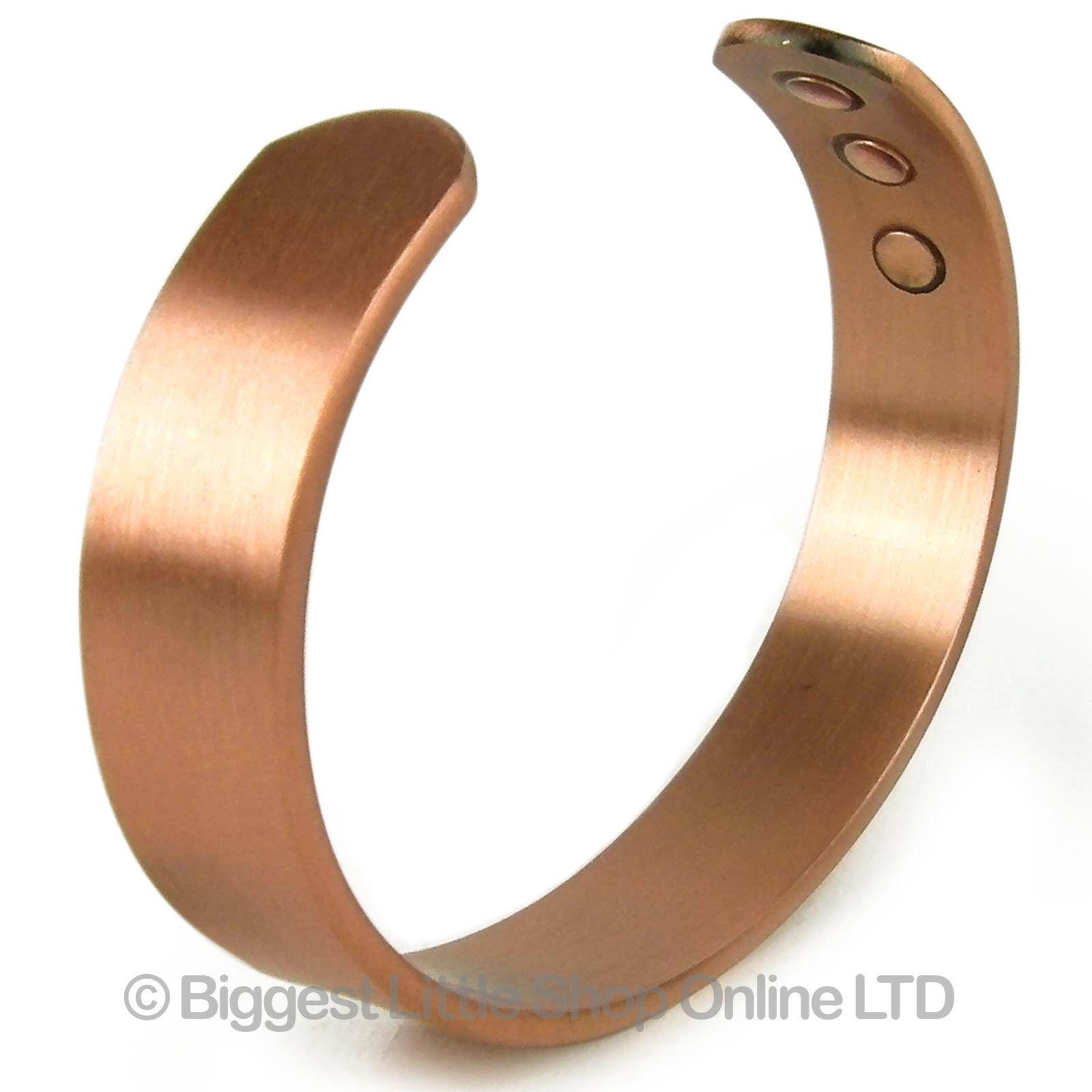 NEW Mens Chunky Magnetic Copper Bracelet 6 Strength Magnet