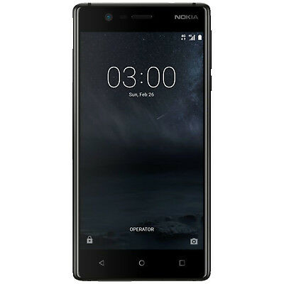 NOKIA 3 Dual-Sim, Smartphone, 16 GB, Schwarz, Dual SIM