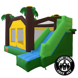 Jungle Theme Bounce House Jumper Bouncy Castle Bouncer Inflatable with Blower