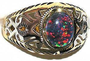 Mens Opal Ring EBay