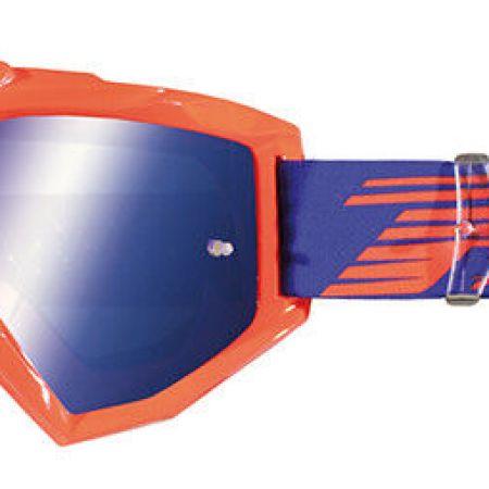 occhiali mascherina motocross lente a specchio Progrip Aztaki arancio lente blu