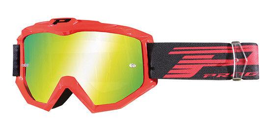 occhiali con lente a specchio Progrip Aztaki rosso lente gialla goggles