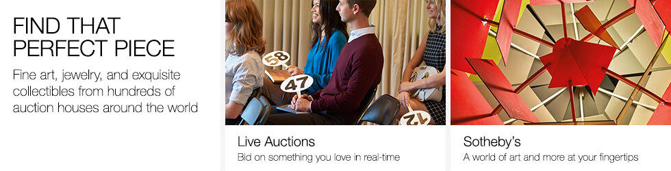 Find that perfect piece | Fine art, jewelry, and exquisite collectibles from hundreds of auction houses around the world