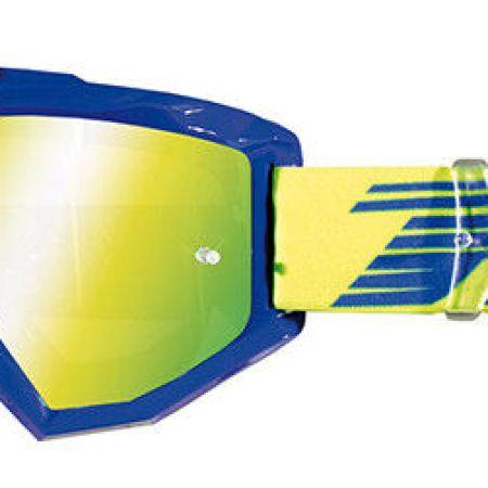 occhiali con lente a specchio Progrip Aztaki blu lente gialla goggles