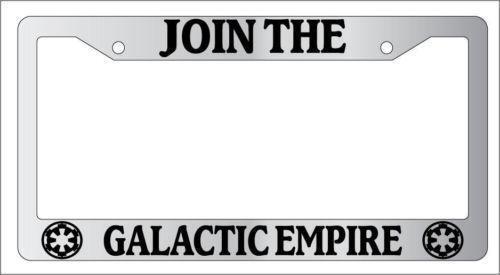 Disney License Plate Frame Chrome