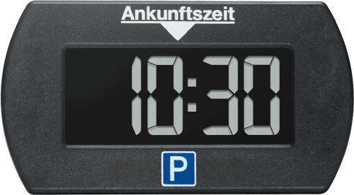 Parklite Mini elektronische Parkscheibe Parkuhr schwarz mit Zulassung