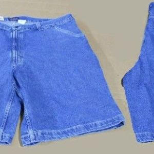 2 pairs New Mens HARBOR BAY Big & Tall CARPENTER Denim blue jean SHORTS Sz - 56