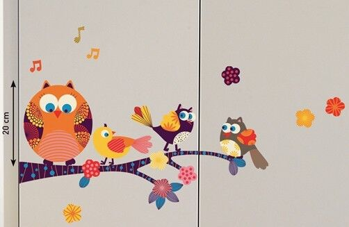 Eulen Möbelsticker Little Owl Eule owls Homesticker Sticker Kinderzimmer Uhu