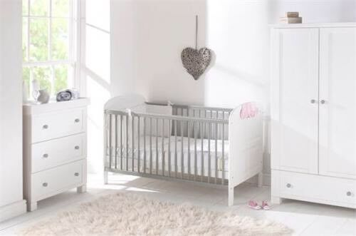 East Coast Nursery Furniture Set Cot Bed Wardrobe Baby Change Dresser And
