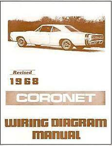 1968 68 DODGE CORONET WIRING DIAGRAM MANUAL