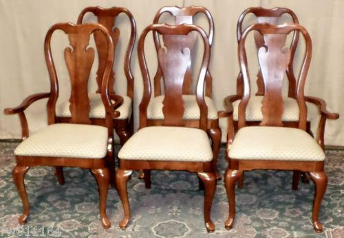 Cherry Queen Anne Dining Chairs EBay