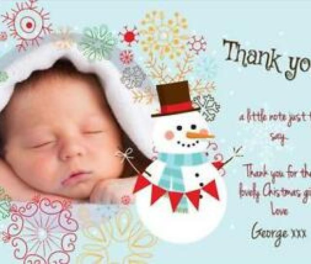 Personalised Baby Christmas Cards