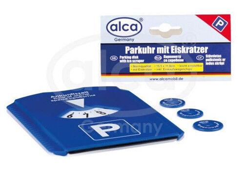 ALCA Auto Parkscheibe mit Eiskratzer inkl. 3 Einkaufswagenchips