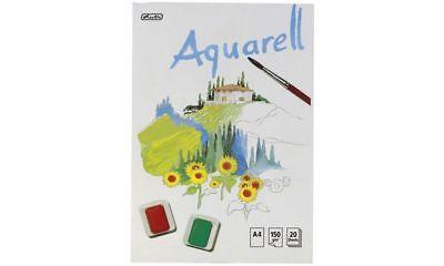 herlitz Aquarell-Block 20 Blatt DIN A4 Aquarellpapier Zeichenblock kopfgeleimt