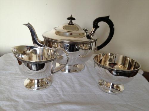 Tea Silver Set Plated Epns
