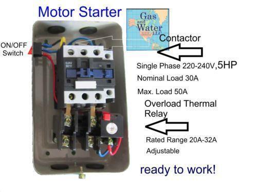 5 HP Magnetic Starter