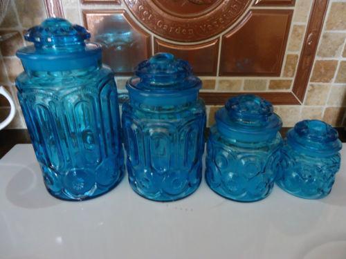 Blue Canister Set Ebay