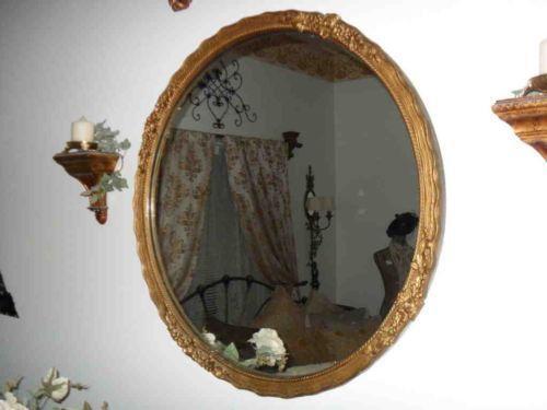 Antique Round Mirror