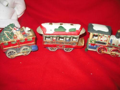 Vintage Christmas Train Set EBay