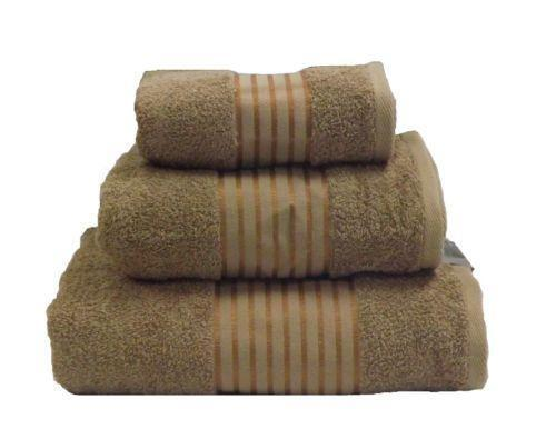 Brown Striped Towels EBay