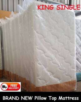 Brand New King Single Size Pillow Top Mattress Delivered Free