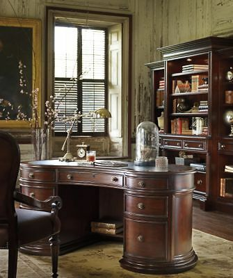 STANLEY FURNITURE CITYCLUB MAHOGANY LEATHER TOP HOME