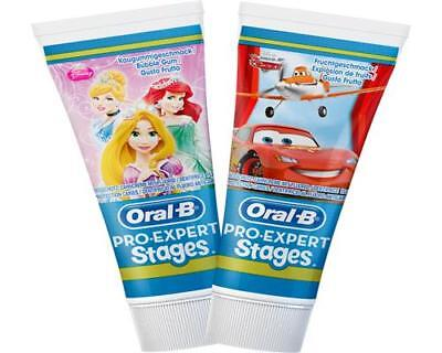 Oral-B PRO-EXPERT Stages Kinderzahncreme 75 ml Cars / Princess Zahnpasta