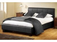 Est Ever Price Guaranteed Xmas New Double King Leather Bed